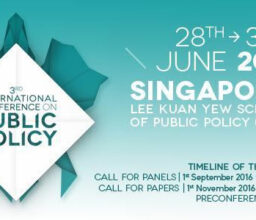3RD INTERNATIONAL CONFERENCE ON PUBLIC POLICY 28TH-30TH JUNE 2017 – SINGAPORE
