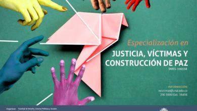 Especialización en Justicia, víctimas y construcción de paz