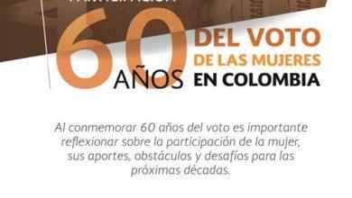 Conmemoración 60 años del voto de las mujeres en Colombia